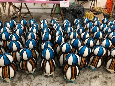 Detalhes do barracão do Tuiuti para o Carnaval 2020. Foto: SRzd
