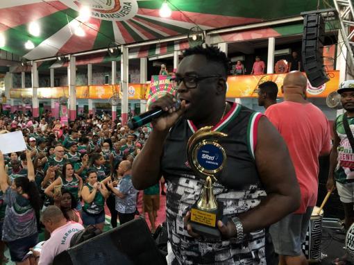 Mangueira recebe Prêmio SRzd Carnaval 2019. Foto: SRzd