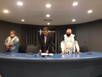 Jorge Castaneira conduziu plenária da Liesa de 14 de julho de 2020. Foto: Jonathan Maciel