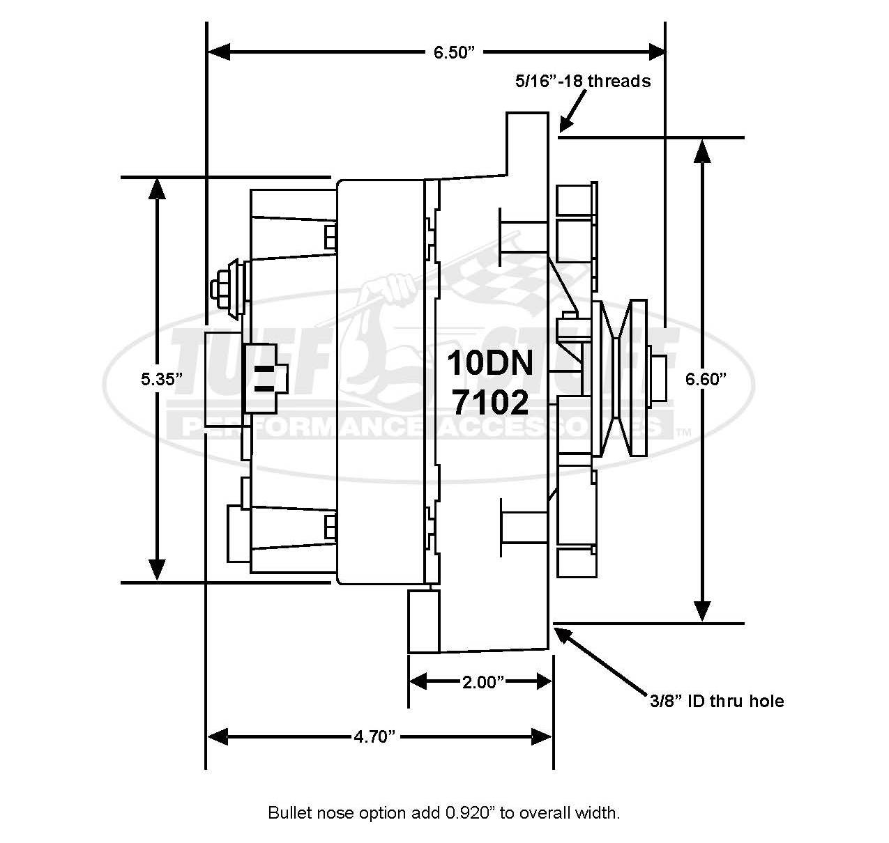 hight resolution of 1967 1970 camaro 100 amp external regulator alternator stealth black product may vary from above listed image