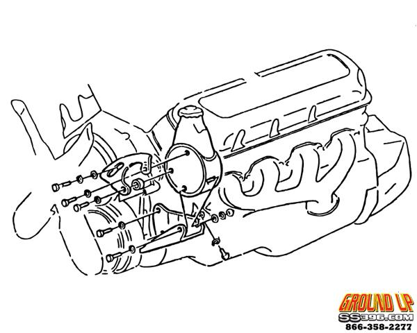 1970-1972 Chevelle Big Block Power Steering Bracket Kit