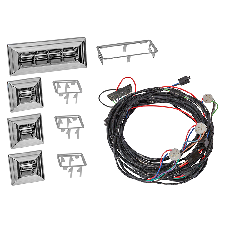 1969 Chevelle Front and Rear Power Window Retrofit Kit