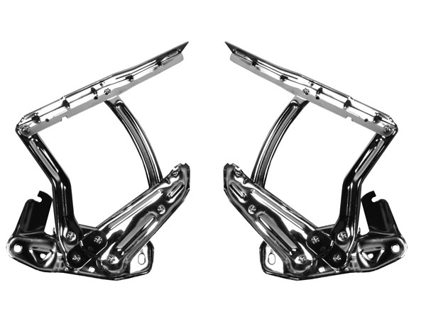 1965-1967 Chevrolet Chrome Hood Hinges