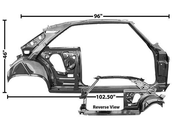 1966-1967 Nova Quarter Panel And Door Frame Assembly Right