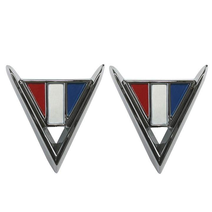 Chevrolet Cross Flag Fender Emblems