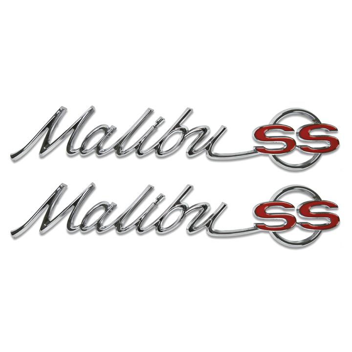 1965 Chevrolet Malibu SS Quarter Panel Emblems