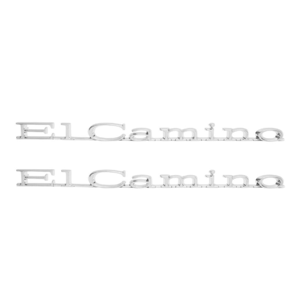 medium resolution of trim parts el camino fender emblems are perfect reproductions of the originals you won t find that anywhere else includes fasteners
