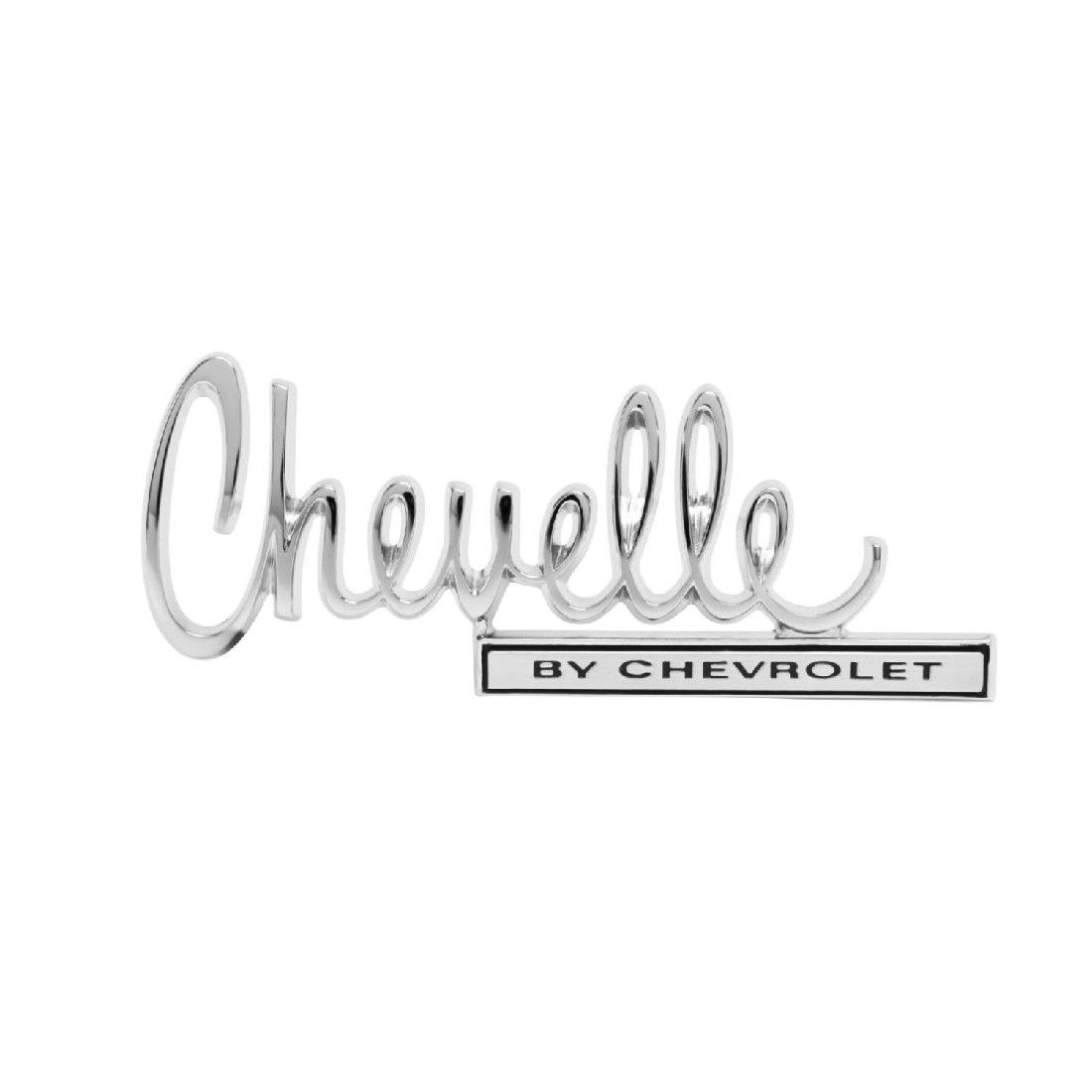 Chevelle By Chevrolet Trunk Emblem