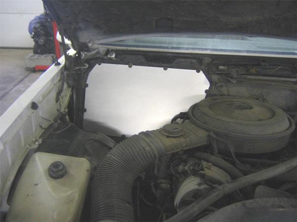 19781988 Malibu Monte El Camino Heater Box Delete Panel Black