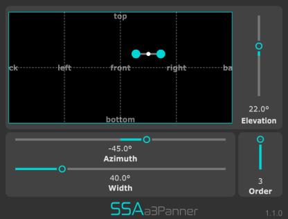 a3Panner - Third order Ambisonics encoder/panner plugin