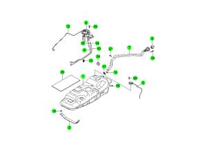 Схема топливный фильтр на ssangyong