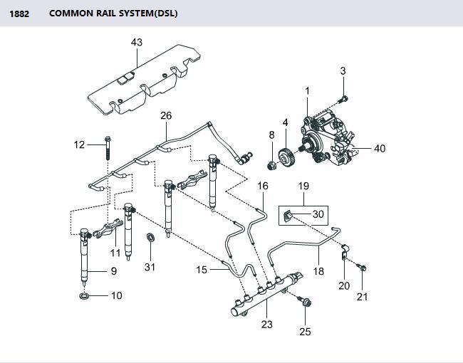 6720700001 Pump Fuel High Pressure Korando C Actyon Sports