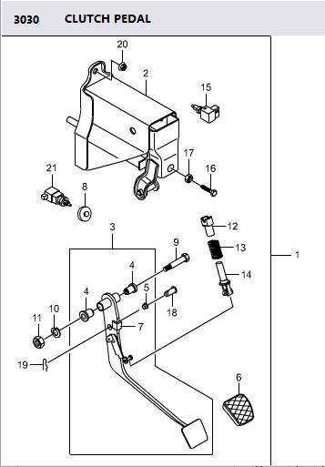 3041321000 Bush Stopper Brake Switch Actyon Sports 2
