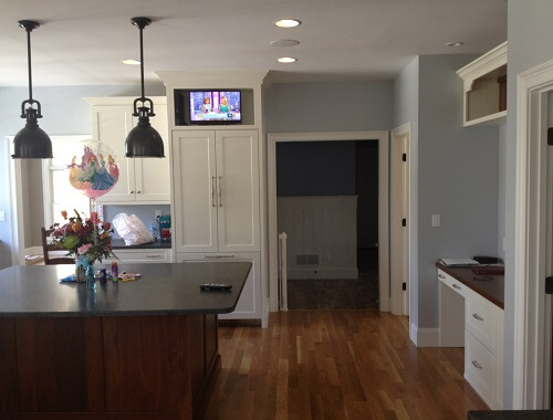 kitchen speakers closet in ceiling and tv 1 south shore audio video this entry was posted bookmark the permalink