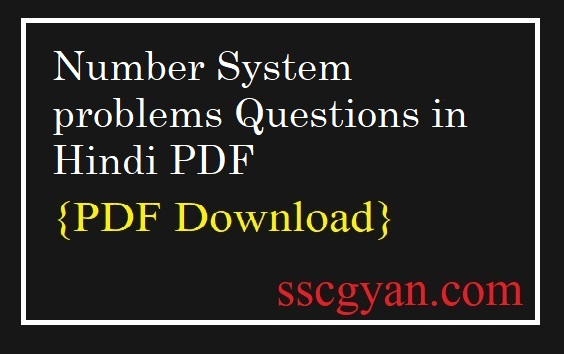 Number System problems Questions
