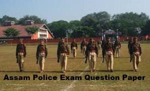 Assam Police Exam Question Paper