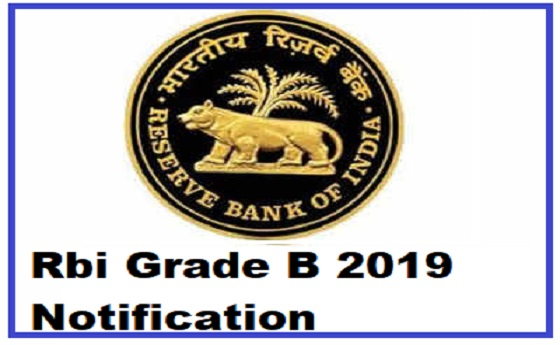 Rbi Grade B 2019 Notification