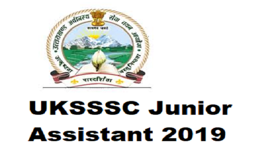 UKSSSC Junior Assistant 2019