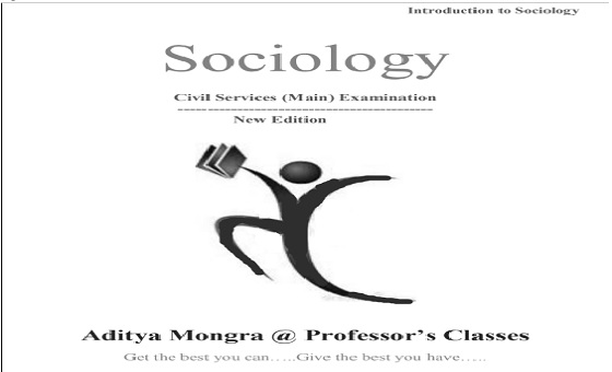 Aditya Mongra Sociology Notes PDF