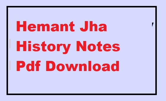 Hemant Jha History Notes PDF