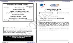 Vision Ias Mains Test Series