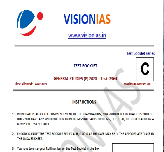 vision ias test series 2020