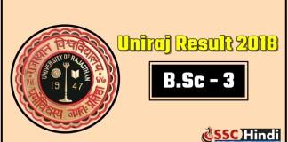 Rajasthan-Univresity-UniRaj-BSc-3-Third-Result-2018