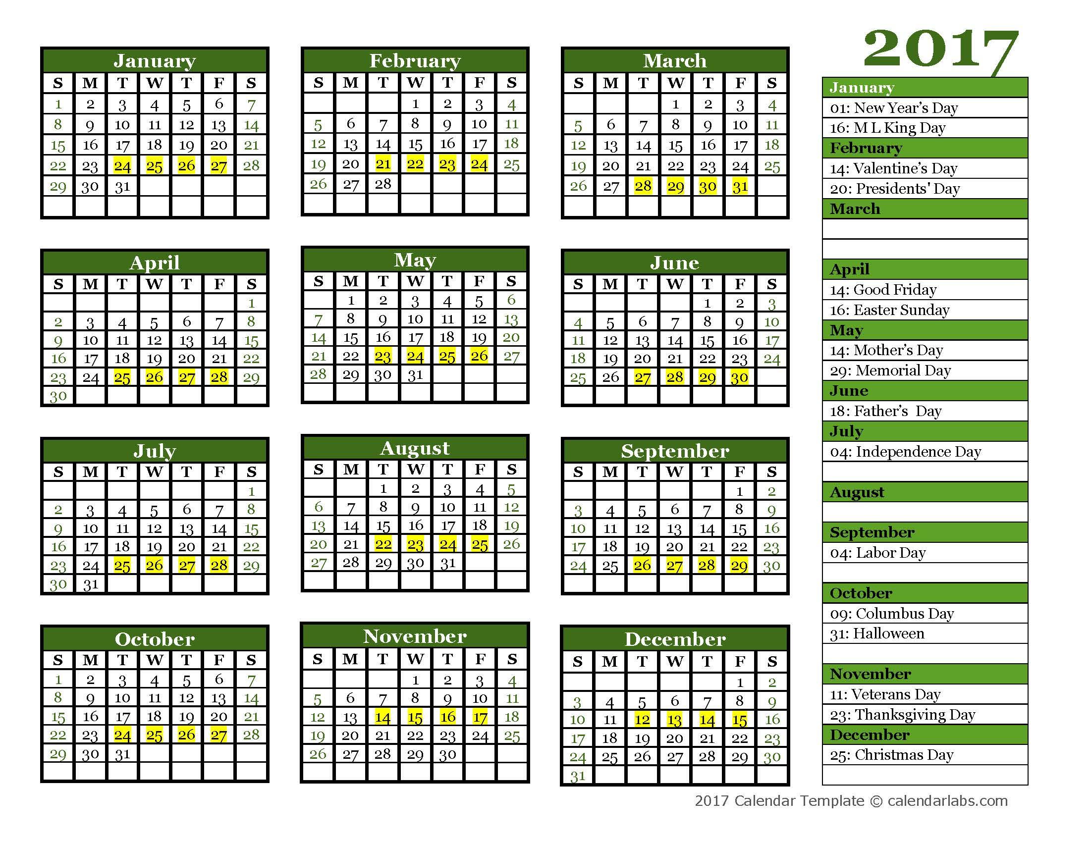 Training Schedule Calendar Template