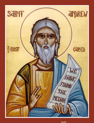 NOV 26 & 27: 27TH SUNDAY AFTER PENTECOST & COMMEMORATION OF ST. ANDREW APOSTLE