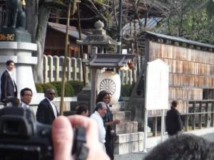 スミス英会話大津校 京都でオバマミシェルさんを見えました!