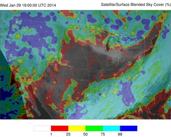 Sky Cover Shining Light Cloudiness Forecasts Ssec