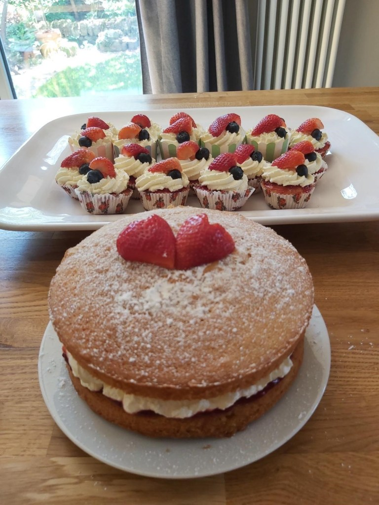 Delicious cakes made by one of our volunteers for front line workers