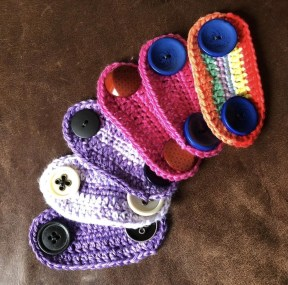 Our volunteers have been busy knitting ear protectors for 'mask mates' to add comfort to those needing to wear PPE