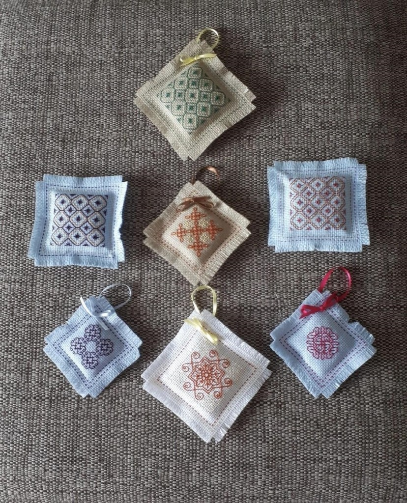 Wonderful needlework lavender bags, created by a very talented volunteer to be given out to those customers requiring comfort during difficult times