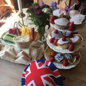 A special social distanced afternoon tea to celebrate VE Day