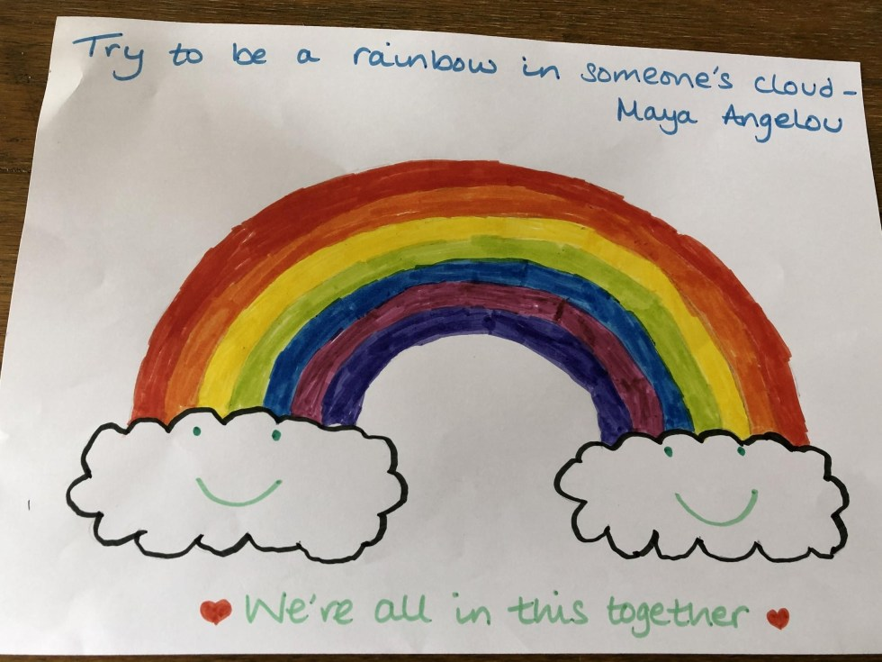 A volunteer and her son created this drawing to be given out to one of our referrals.