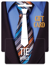 tie world mid-size display plastic gift card