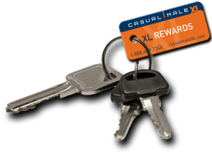 keys with plastic key tag