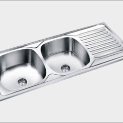 Kitchen Sinks With Drain Boards Glass Cabinets Imagine Group Double Bowl Board