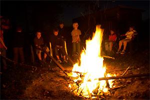 Lagerfeuer für die Taekwondoabteilung des SSK-Kerpen