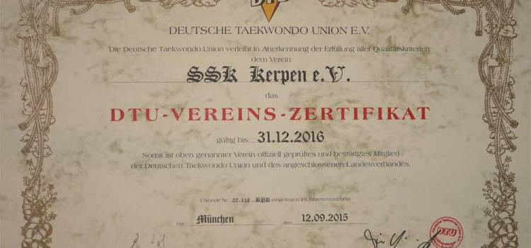 SSK-Taekwondo-Team: DTU-zertifizierter Taekwondo-Verein in Kerpen