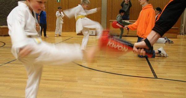 Ran an die Pratzen beim SSK-Taekwondo Weihnachtsturnier