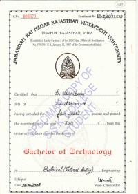 Samples of College Degree Certificates