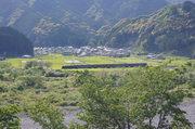 大井川鐵道のSL : SLの見える丘公園から