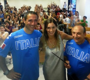 Rossella Fiamingo con Sandro Cuomo e Gianni Sperlinga