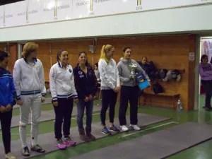 Vince la 3^ Prova di Spada Femminile della VII edizione del Trofeo del Sabato Francesca Quondamcarlo su Eugenia Falqui