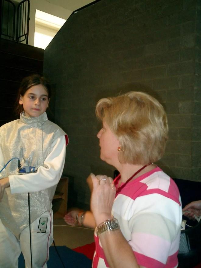 Gran premio Giovanissimi maggio 2006 - Beatrice Gasperini e la M^ Matilde Lerro Foto G. Trombetta