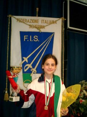 Gran Premio Giovanissimi maggio 2006 - Beatrice Gasperini 3^ classificata nella categoria Bambine Foto G. Trombetta