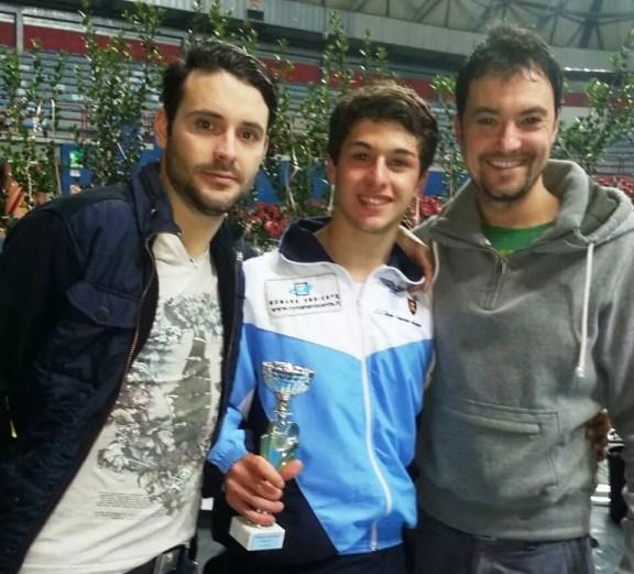 Montecatini Torneo Internazionale U17 - da sx Lorenzo Nini, Andrea Funaro 8° classificato e Guido De Bartolomeo
