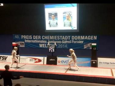 Dormagen prova di Coppa del Mondo - sciabola femminile 7.12.2014 Sofia Ciaraglia vs Polina Stadnichuk (Russia)